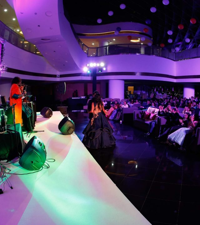 A stage event in uae which showcases the services specialized by wildplanet ent